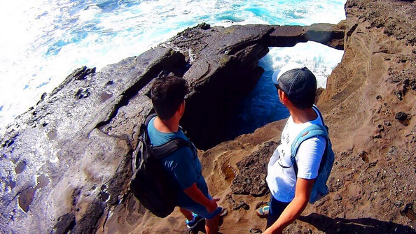 ハワイ HAWAII Hanauma Bay トレッキング Hidden Rock Bridge