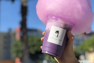 URBAN LOCAL LIVING HAWAII Lemon Milk Drink with Cottoncandy